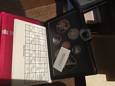 Lot of Seven Canadian  Proof Sets Double silver dollar Box & COA