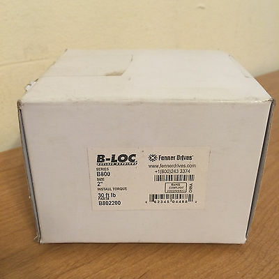 "NIB Fenner Drives B-Loc B802200 2"" Keyless Bushing"