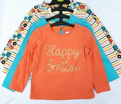 New M&S Baby Girls, Pure Cotton Long Sleeve Top 4 Pack. Age 12 18 24 m