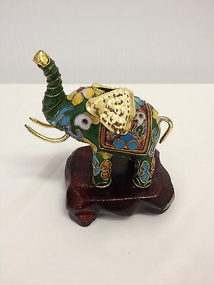 Chinese Collectable Cloisonne Handwork Elephant Statue - symbol of good Forture