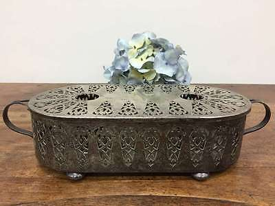 French Vintage Chaffing Dish - Silver Plated Warming Serving plate - L247