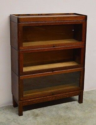 Lundstrom Antique  Quartersawn Oak Stacking Barrister Bookcase