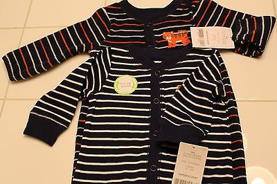 NWT Lot of 2 Carters Baby Boy One-Piece Sleep and Play Size: 3 Months