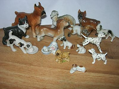 Mixed Lot of Bone China Dogs - Boxer,Terrier,Dalmation & More