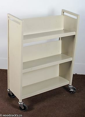 4-Wheel Library Book Storage Cart Bookshelf (3 Available)