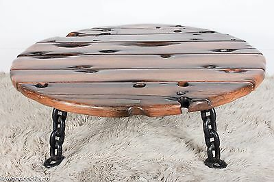 1840s Great Lakes Shipwreck Salvage Oak Coffee Table