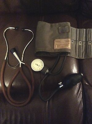 Antique Stethoscope And Blood Pressure Cuff Tycos