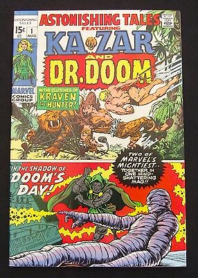 ASTONISHING TALES #1 (1970)  Ka-Zar - Dr. Doom - Stan Lee/Jack Kirby - 9.0 VF/NM