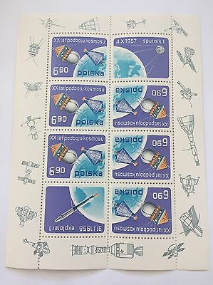 Polska Polish Space Stamp Sheet Explorer 1 Space Probe Satellite - Never Used