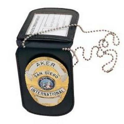 Aker Leather Tan 597 Neck Badge & Id Holder - Ideal For Police Officers, Guards