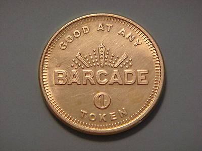 Barcade The Original Arcade Bar Brooklyn New York Token Coin