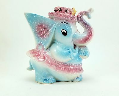 Relpo Elephant Ceramic Hand Painted Planter Vintage Japanese Cute Whimsical