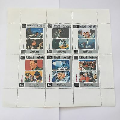Sharjah And Dependencies Space Stamp Sheet - History Of Space, Rosenbaum Vienna