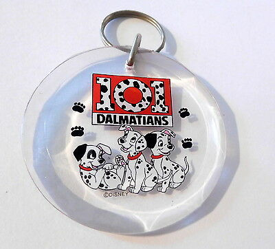 "Vintage Collectible 2.5"" Diameter 101 DALMATIANS Disney  Keychain Key Chain Ring"