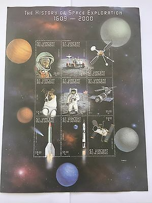 The History Of Space Exploration Stamp Sheet $1 St. Vincent And The Grenadines