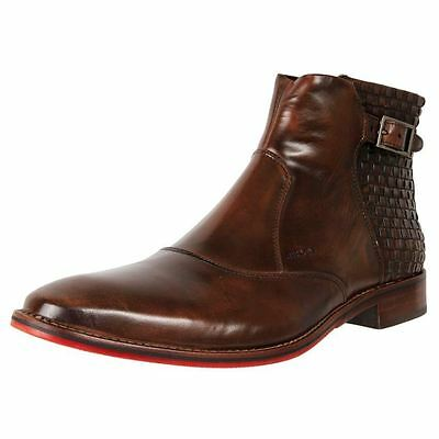 New Ferracini Men's Leather Dress Wedding Ankle Boots Iverson Cheap