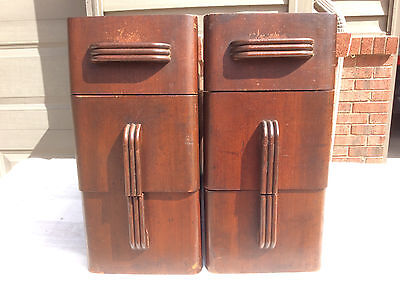Antique Franklin (Sears Roebuck) Treadle Sewing Machine Cabinet Drawers (6)