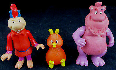 Rare Vintage 1986 Teddy Ruxpin WOOLY WHAT'S-IT GRUNGE & FOB Posable Figures