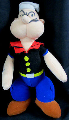 """POPEYE the Sailorman 14"""" Plush Stuffed Toy Doll 1992 Play-by-Play King Features"""
