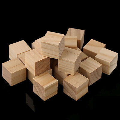 Square Wooden Beads Handmade Woodcrafts Baby Toys Natural Wood Cube Home Decor