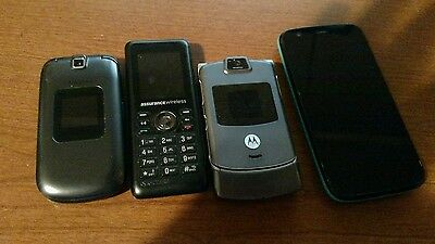 lot of 4 cell phones Parts Repair Gold Recovery Motorola Samsung
