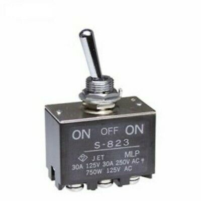 1) Toggle Switch DPDT ON-OFF-ON HIGH SCREW LUG 30A (amp) 30VDC (volt) 125VAC