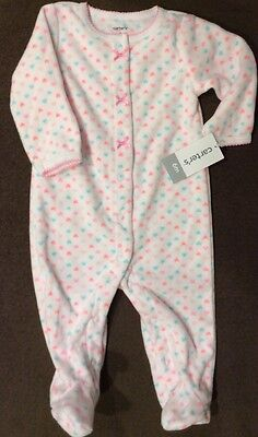 Carter's Infant Baby Girls Snap Up Fleece Sleeper Pajamas   NWT 6M Months New