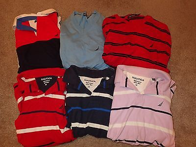 Mixed Lot of 6 Nautica Mens Shirts and Sweaters Size M Nice Variety!