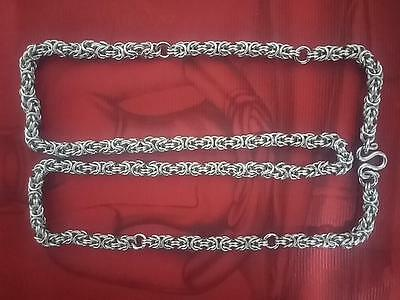 "32"" Unique Style Stainless Steel Necklace For Hanging Maximum 5 Thai Amulets"