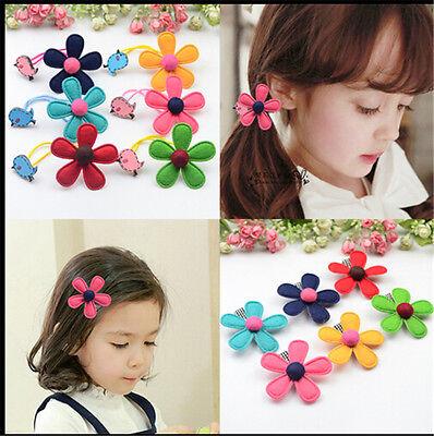 Flower Kids Baby Girls Hairclips Accessories Clip Hairpins Barrettes Headwear BH