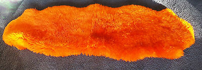 Thick Soft Warm & Luxurious Double Xlarge Skin Premium Orange Sheepskin Rug