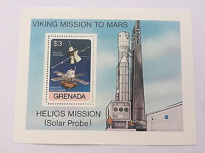 Grenada Viking Mission To Mars Space Stamp Print Picture