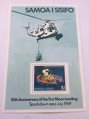 Samoa I Sisifo 10th Anniversary Of Moon Landing Stamp
