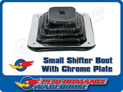 """SMALL RUBBER UNIVERSAL SHIFTER BOOT With CHROME PLATE 5-5/8"""" x 6-3/4"""""""