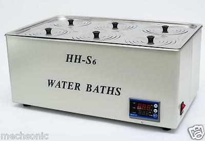 1800W Digital Thermostatic Water Bath 6 Hole 500*300*150mm HH-S6 Fast Shipping s