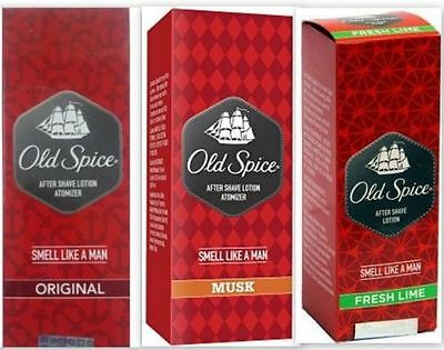 Old Spice After Shave Lotion Original Musk Fresh Lime Fragrance 150ml From India