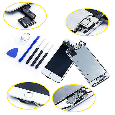VITRE TACTILE IPHONE 5S / 5C / 5 COMPLET + ECRAN LCD SUR CHASSIS + OUTILS+Home