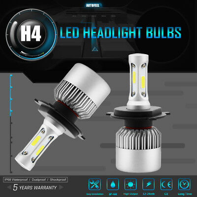 H1 24000LM COB PHILIPS LED Car Headlight Kit 6500K Super White 160W Lamp Bulbs