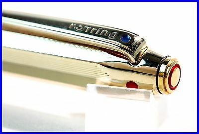 1960's design ROTRING 4 color BALLPOINT PEN in GOLD DOUBLÉ w. gravity mechanism
