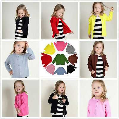 Ins Hot Newest Baby Kids Girls Kids Cotton Knitting Sweater Coat Cardigan Jacket