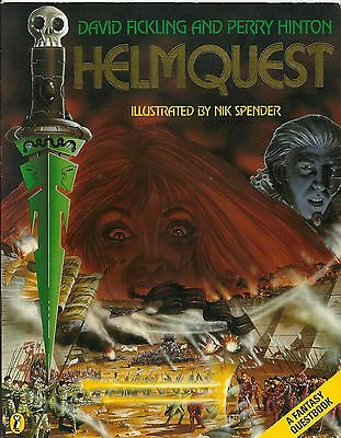 Helmquest A Fantasy Quest book  Puffin 80's rare Flicking Hinton Spender