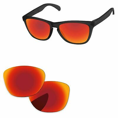 85c5031512b PapaViva Fire Red Mirror Polarized Replacement Lenses For-Oakley Frogskins  LX