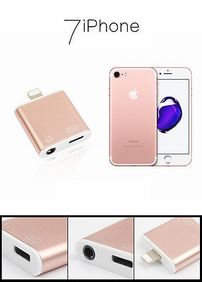 3 in 1 Lighting To 3.5mm Earphone Audio Jack and Charger Adapter for iPhone7