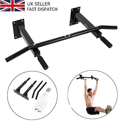 Sale Wall Mounted Pull Up Bar Chin Chinning Bracket Home Gym Fitness Station Dip