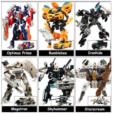 Transformers Action Figures Model Toys Optimus Prime Ironhide Bumble Bee Robots