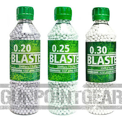 ASG Blaster BB's Pellets 6mm 3000 pcs Airsoft .20 .25 .30 BBs Free UK Delivery