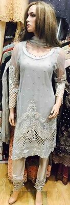 Indian Pakistani Shalwar Kameez Anarkali Designer Partywear Semi formal Net