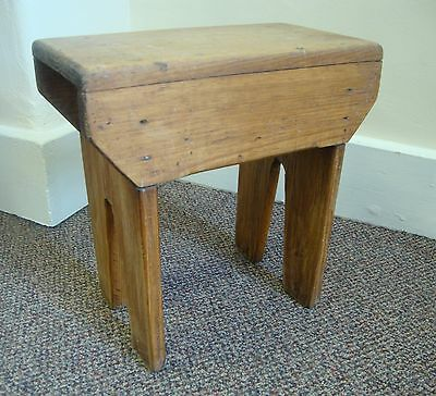 Small Antique Pine Step Stool - Rustic Farmhouse