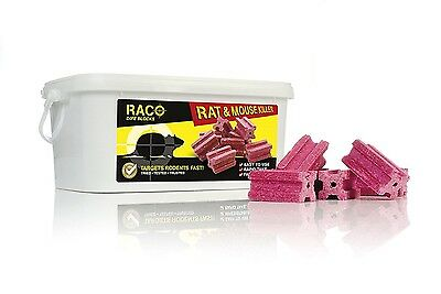 RACO Problock Rat Mouse Vermin Killer Poison Bait Blocks 1.5kg / 720g / 15 x 20g
