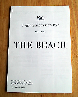 The Beach (2000) Movie Press Kit Leonardo DiCaprio, Daniel York Patcharawan Pata